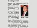 Pressebericht Trainingspreis für Michael Heun