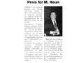 Pressebericht Preis für M. Heun - erschienen am 05.03.2008 in der Zeitschrift Lahn Post