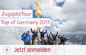 ZugspitzTour – Top of Germany 2017 – Jetzt Anmelden